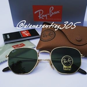 New Ray-Ban Hexagonal Flat Lens 3548 💯Authentic